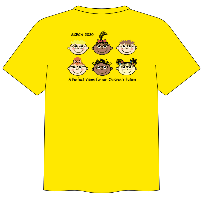 2020 SCECA Conference T - yellow back